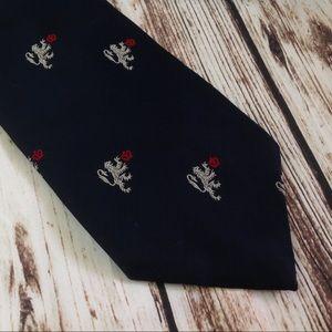 3/$10🛍 Vintage 60s Chadwick Wembley Navy Blue Tie